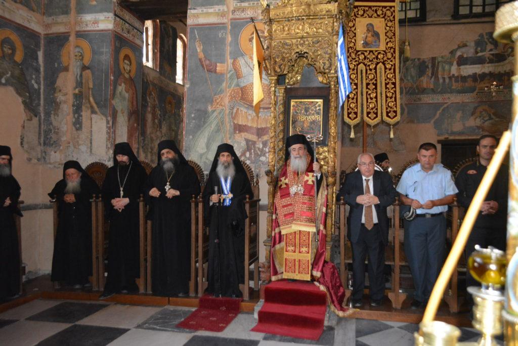 Υποδοχή του Πατριάρχη Ιεροσολύμων κ.κ. Θεόφιλου στο Άγιον Όρος