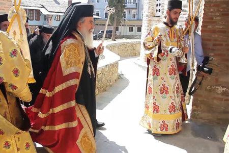 Υποδοχή του Πατριάρχη Ιεροσολύμων κ.κ. Θεοφίλου στο Πρωτάτο (6/8/2016)