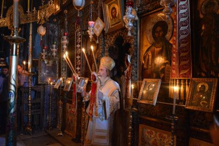 Ο Πατριάρχης Ιεροσολύμων Θεόφιλος στη Σκήτη της Αγίας Άννης