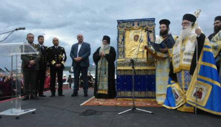 Η υποδοχή της Παναγίας Βηματάρισσας στο Βόλο (28/10/2016)
