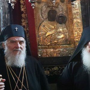 Επίσκεψη του Πατριάρχη Σερβίας κ. Ειρηναίου στο Βατοπαίδι