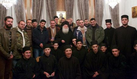 Επίσκεψη των μαθητών της Αθωνιάδας Σχολής στη Μονή Βατοπαιδίου