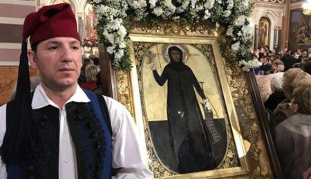 Αγία Φιλοθέη: Θεία λειτουργία και λιτάνευση του σκηνώματός της