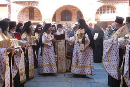 Κυριακή της Ορθοδοξίας στο Βατοπαίδι