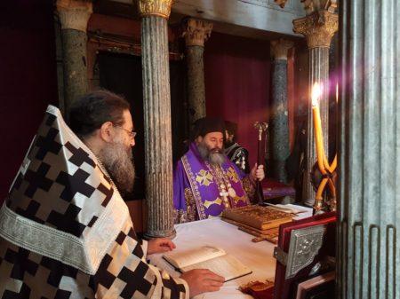 Προηγιασμένη Θ. Λειτουργία στη Μονή Ιβήρων από το Μητροπολίτη Λαγκαδά κ. Ιωάννη