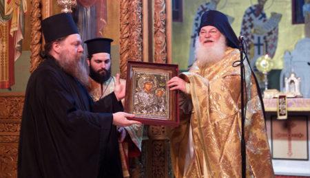 Τέλεση Προηγιασμένης Θ. Λειτουργίας από το Γέρ. Εφραίμ στη Μητρόπολη Καλαμαριάς