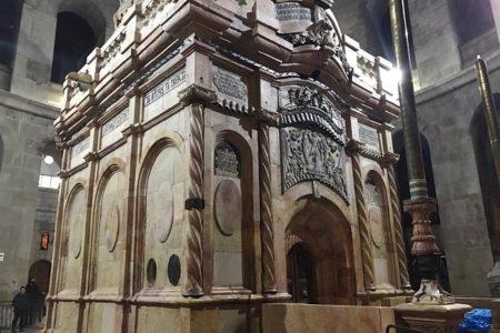 ΖΩΝΤΑΝΑ: Η τελετή της παράδοσης του Ιερού Κουβουκλίου του Παναγίου Τάφου