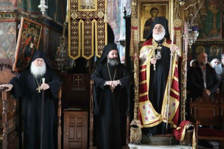 Υποδοχή Αρχιερέων στην Ι.Μ.Μ. Βατοπαιδίου για την Πανήγυρη του Ευαγγελισμού