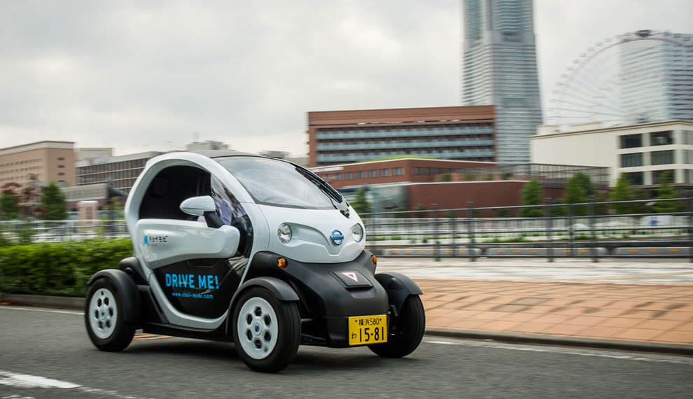 Car sharing service featuring Nissan's ultra-compact electric