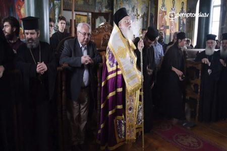 Υποδοχή του Αρχιεπισκόπου Αλβανίας στην Αθωνιάδα Ακαδημία