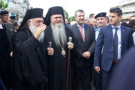 Υποδοχή του Αρχιεπισκόπου Ιερωνύμου στην Ι.Μ. Νέας Κρήνης και Καλαμαριάς