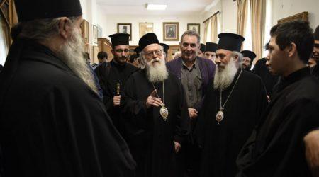 Επίσκεψη του Αρχιεπισκόπου Αλβανίας στην Αθωνιάδα Ακαδημία