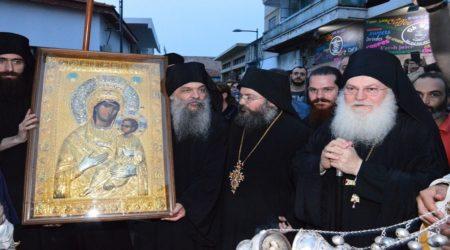 Υποδοχή πιστού αντιγράφου της Παναγίας Βηματάρισσας από την Ι.Μ.Μ. Βατοπαιδίου στη Μητρόπολη Λεμεσού