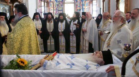 Κοίμηση του νέου Κτήτορα της Ι. Μ. Παμμεγίστων Ταξιαρχών Πηλίου π. Αντωνίου Ζούπη – Εξόδιος Ακολουθία