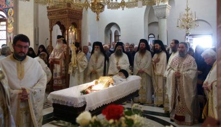 Κοίμηση του νέου Κτήτορα της Ι. Μ. Παμμεγίστων Ταξιαρχών Πηλίου π. Αντωνίου Ζούπη – Θ. Λειτουργία