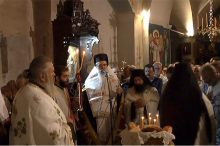 Πανηγυρικός Εσπερινός στο παλαιότερο μοναστήρι της Σάμου (7-9-2017)