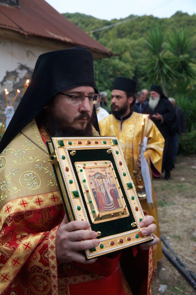 Εγκαίνια του ιερού ναού του κελλιού Τιμίου Σταυρού, Προβάτα, Άγιον Όρος