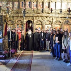 Φοιητές Θεολογίας Α.Π.Θ. στην Ιερά Μητρόπολη Γουμενίσσης