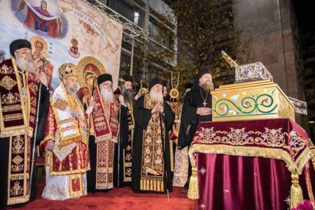 Υποδοχή της Αγίας Ζώνης στη Λάρισα