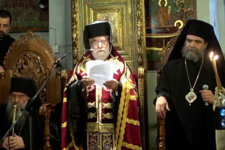 Ομιλία Μητροπολίτου Κιτίου Χρυσοστόμου κατά την υποδοχή της Τιμίας Κάρας του Αγ. Ιωάννου Χρυσοστόμου στη Μητρ. Κιτίου