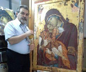 Κωνσταντίνος Ξενόπουλος: Ένας αγιογράφος που δίνει πνοή στις εικόνες.