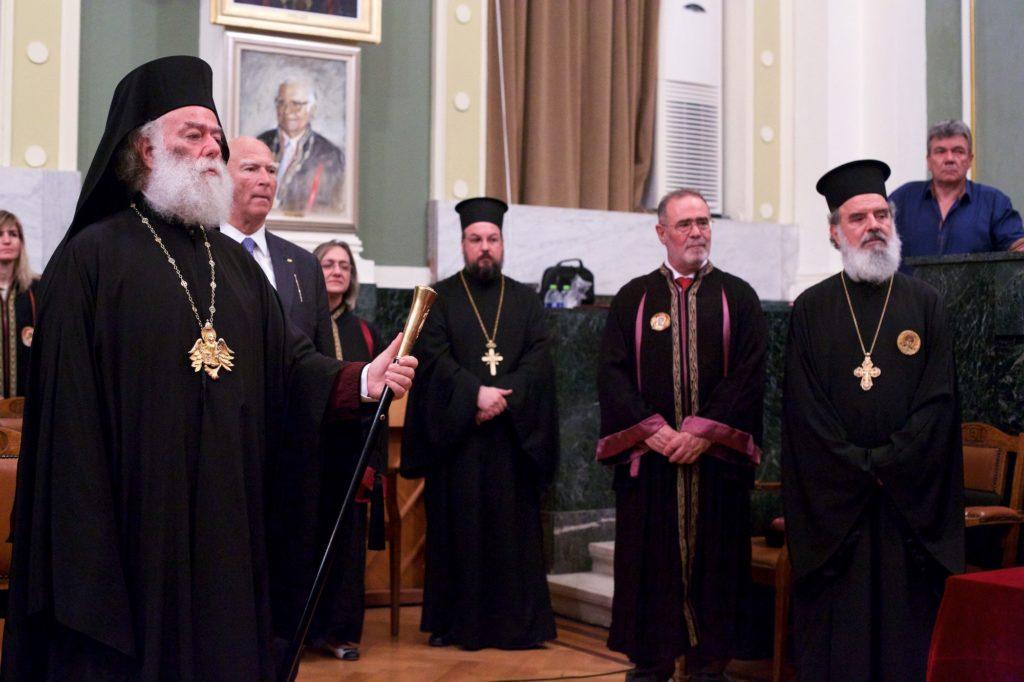 Αναγόρευση της Α.Θ. Μακαριότητος του Πάπα και Πατριάρχη Αλεξανδρείας και Πάσης Αφρικής κ. Θεοδώρου Β΄ σε Επίτιμο Διδάκτορα