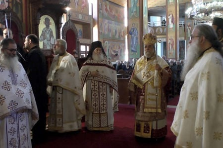 Αρχιερατική Θ. Λειτουργία στην Ιερά Μονή αγ. Γεωργίου Κοντού Λάρνακα