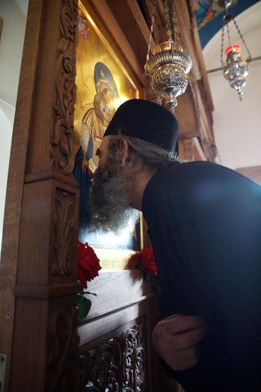 Κελλίον Αγίου Γεωργίου του Φανερωμένου στην Άνω Καψάλα Άγιον Όρος. Μέγας Πανηγυρικός Εσπερινός.
