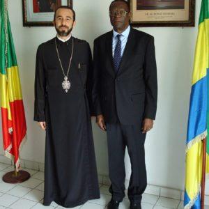 Συναντήσεις του Μητροπολίτη Μπραζαβίλ με τους Πρέσβεις Ιταλίας και Γκαμπόν