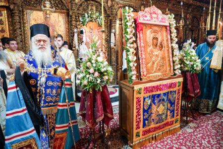 Υποδοχή της Παναγίας της Βηματάρισσας στη Μητρόπολη Βεροίας