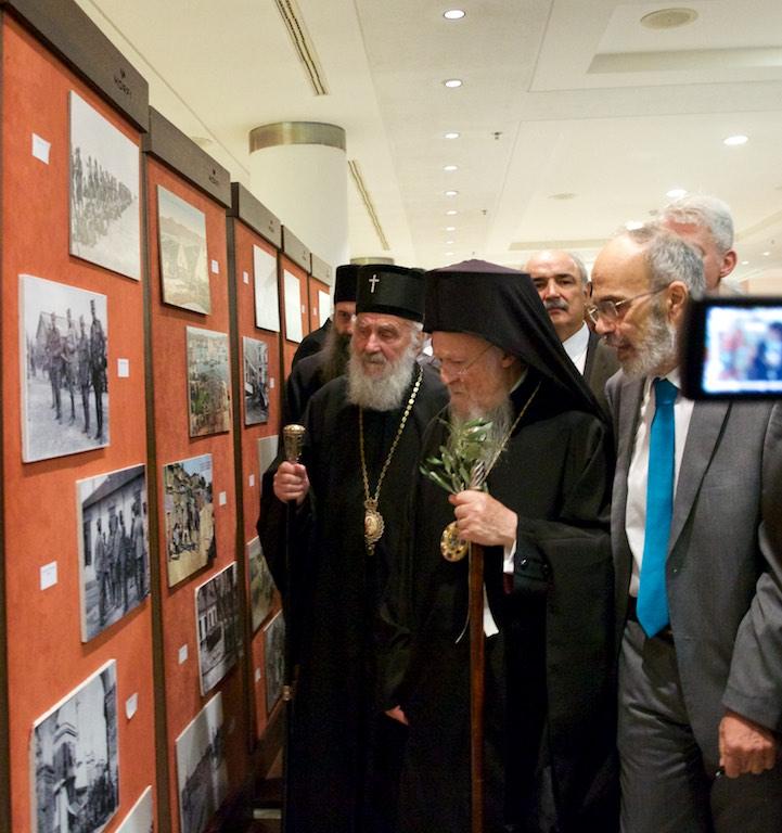 Ο Οικουμενικός Πατριάρχης κ.κ. Βαρθολομαίος με τον Πατριάρχη Σερβίας κ. Ειρηναίον, στη βραδιά μνήμης 100 χρόνια από το Μεγάλο Πόλεμο