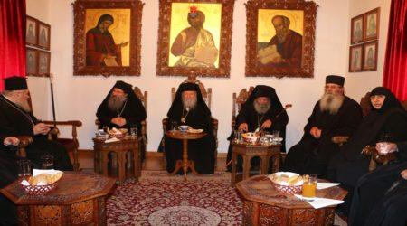 Αρχιερατική Θεία Λειτουργία στην Ιερά Μονή αγίου Ιωάννου του Θεολόγου Πάτμου