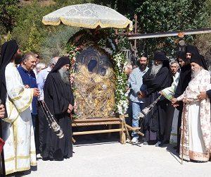 Η Θαυματουργός Εικόνα της Παναγίας Γοργοϋπηκόου στην πανηγυρίζουσα Ι. Μ. Παναγίας Θεοσκεπάστου Σοχού