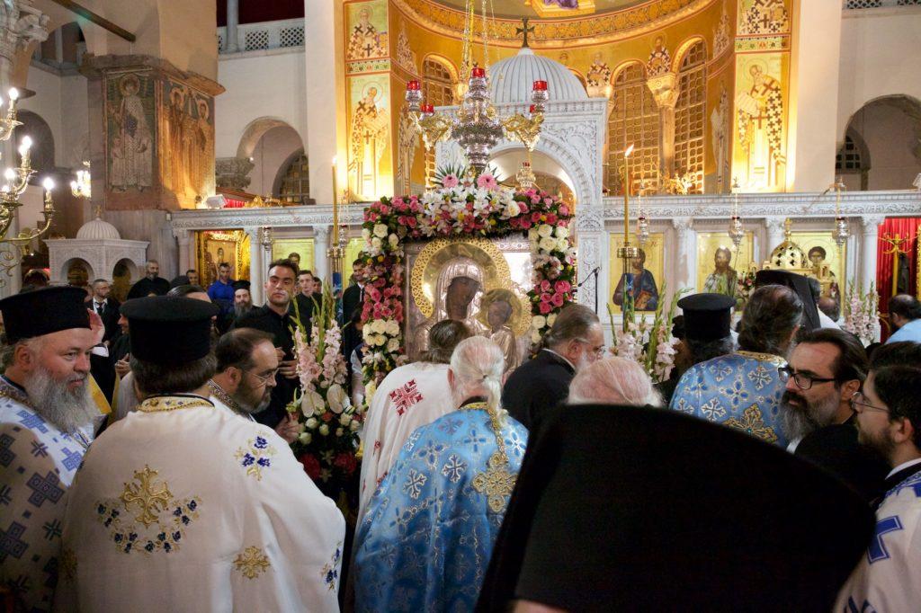 H Παναγία του «Όρους των Ελαιών» και ο Τίμιος Σταυρός στην πόλη του Αγίου Δημητρίου
