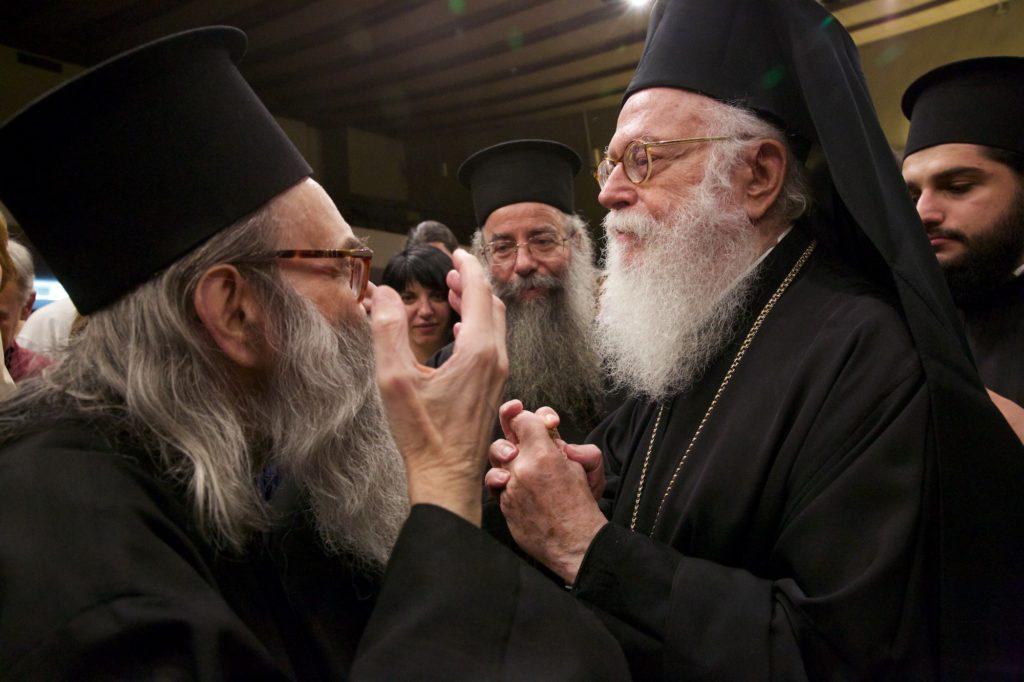 Ο Μακαριώτατος Αρχιεπίσκοπος Αλβανίας κ. Αναστασίος στην Αίθουσα Τελετών Α.Π.Θ.
