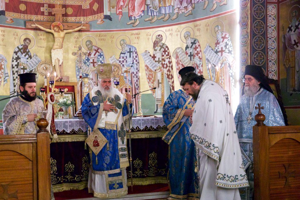 Αρχιερατική Θεία Λειτουργία ενώπιον της Αγίας Ζώνης