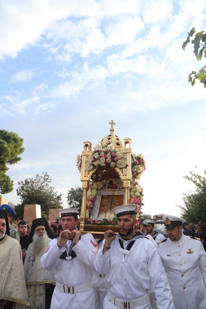Η Παναγία του «Όρους των Ελαιών» και ο Τίμιος Σταυρός από την Αγία Σιών στην Θεσσαλονίκη
