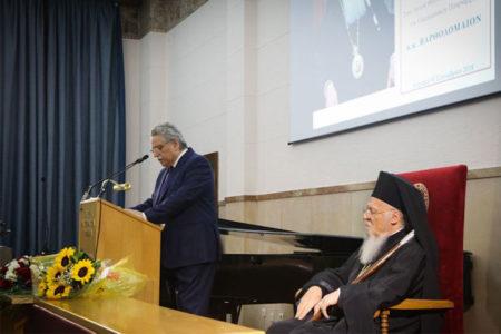 Η ανώτατη τιμή στον Οικουμενικό Πατριάρχη κ.κ. Βαρθολομαίο από την Εταιρεία Μακεδονικών Σπουδών