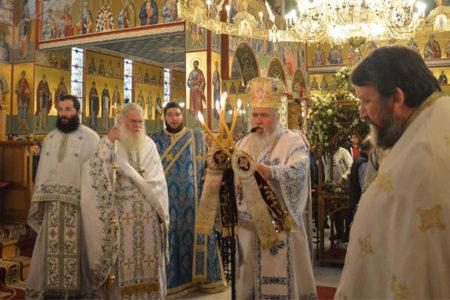 Ο εορτασμός της Αγίας Σκέπης στον Ι.Ν. Ευαγγελισμού της Θεοτόκου Ευόσμου