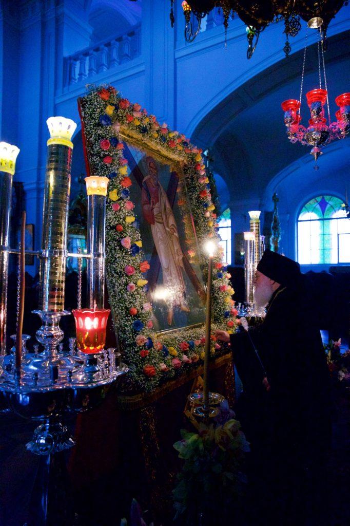 Μέγας Εσπερινός και Αγιασμός στην εορτάζουσα Σκήτη του Αγίου Ανδρέα