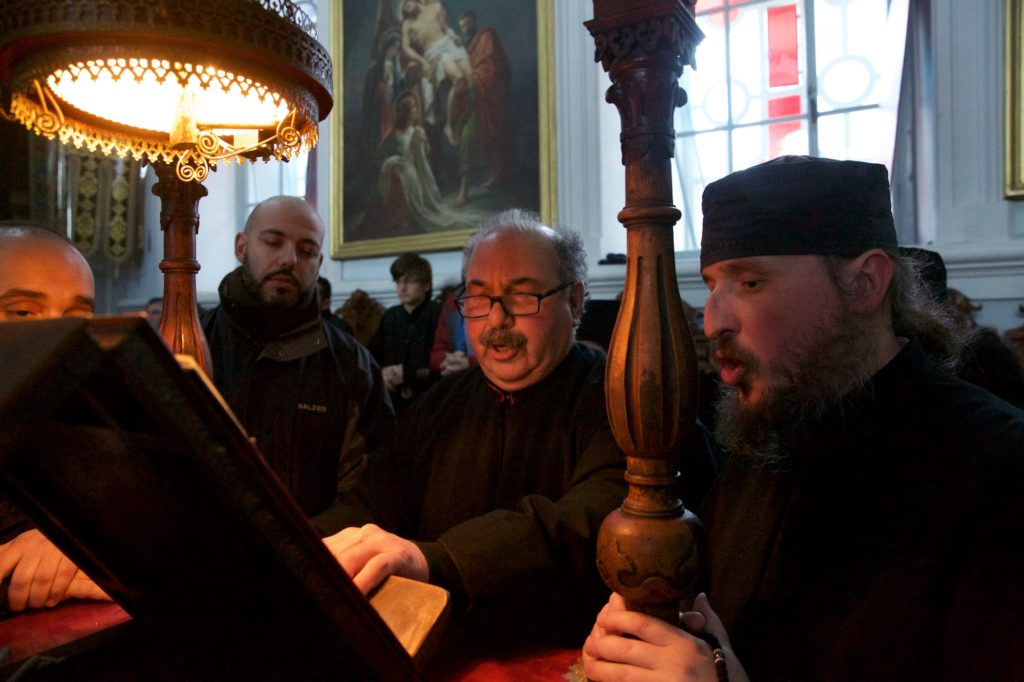 Ιερά πανήγυρις στην Σκήτη του Αγίου Ανδρέα. Μικρός Εσπερινός και Τράπεζα