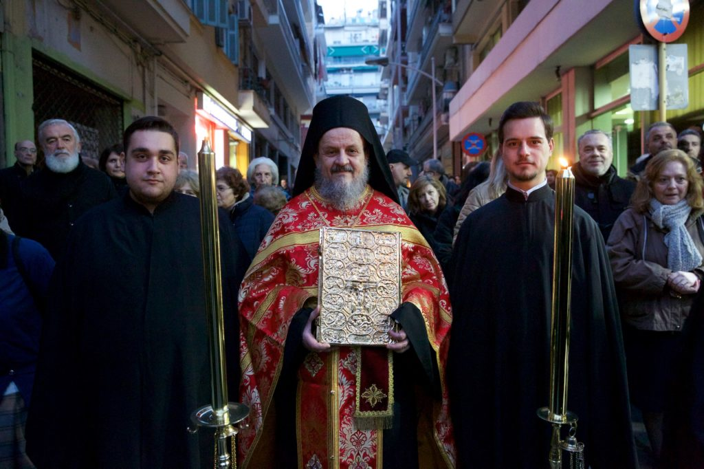 Υποδοχή του Λειψάνου της Αγίας Μαρίας της Μαγδαληνής στον Άγιο Χαράλαμπο Θεσσαλονίκης, Μετόχι της Σίμωνος Πέτρας.