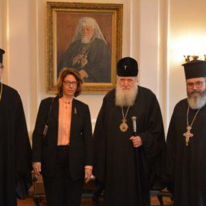 Συνάντηση Πατριάρχη Βουλγαρίας με Πρέσβειρα Ελβετίας