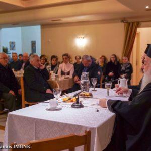 Ο Σεβ. κ. Παντελεήμων ομίλησε στην Κοίμηση Θεοτόκου Ναούσης (φώτο)