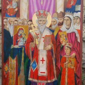 Η Εικονογραφία του Θέματος της Αναστήλωσης των Εικόνων από τον αγιογράφο Νεόφυτο Ν. Ζωγράφο. ( 1880-1961)