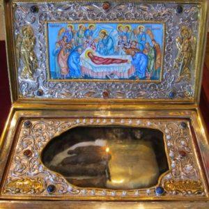 Ιερό προσκύνημα τιμίας χειρός Αγίας Μεγαλομάρτυρος Μαρίνης στον Ι.Ν. Αγίου Κοσμά Αμαρουσίου