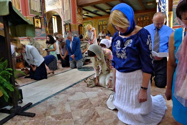 Οι ευχές του Εσπερινού της Γονυκλισίας την Κυριακή της Πεντηκοστής ...