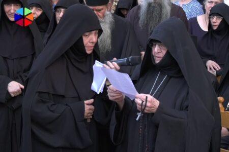Ομιλία της Καθηγουμένης της Ι.Μ. Ταξιαρχών Επιδαύρου κατά την υποδοχή της ιεράς εικόνος της Παναγίας Παραμυθίας