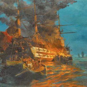 Στίχοι του Ιωάννη Πολέμη για την ανατίναξη της τουρκικής ναυαρχίδας