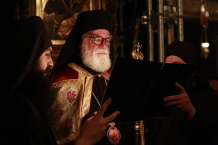 Στιγμές από τoν Μέγα Πανηγυρικό Εσπερινό της Κοιμήσεως της Θεοτόκου στην Ι. Μ. Μ. Βατοπαιδίου